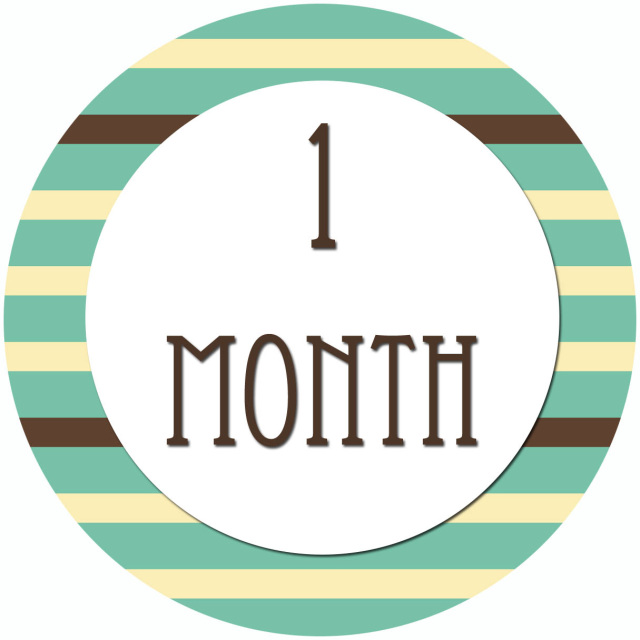 1 Month Old Clipart.