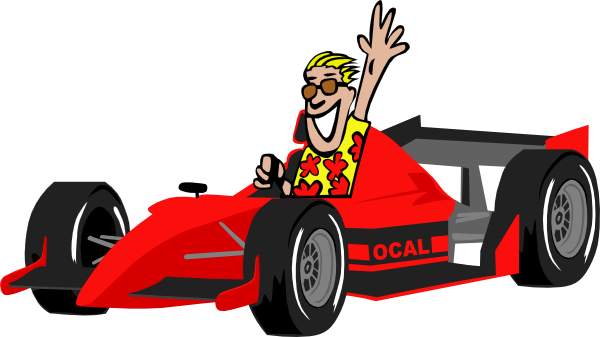 Nascar race car clipart 2.