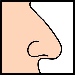 Clip Art: Senses 1 Smell Color I abcteach.com.