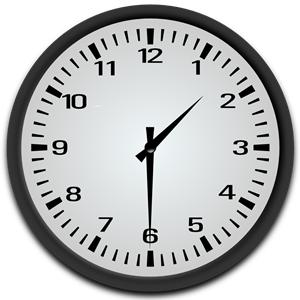 Half Past 1 o\'clock clipart, cliparts of Half Past 1 o\'clock.