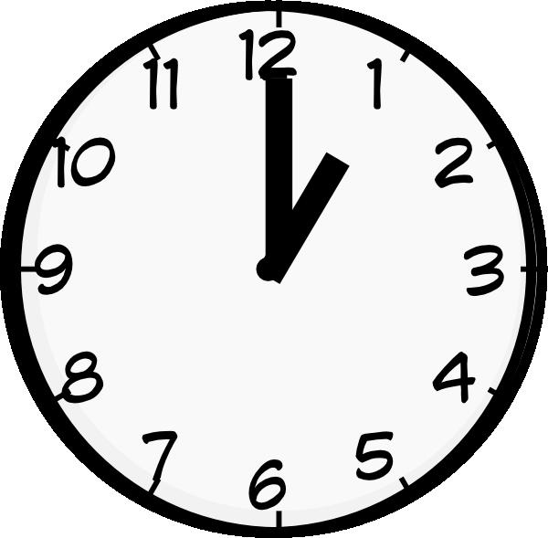 1 O Clock Clip Art at Clker.com.