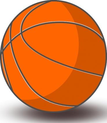 Basketball clip art free vector.