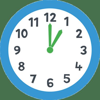 One O\'clock Blue Clock transparent PNG.