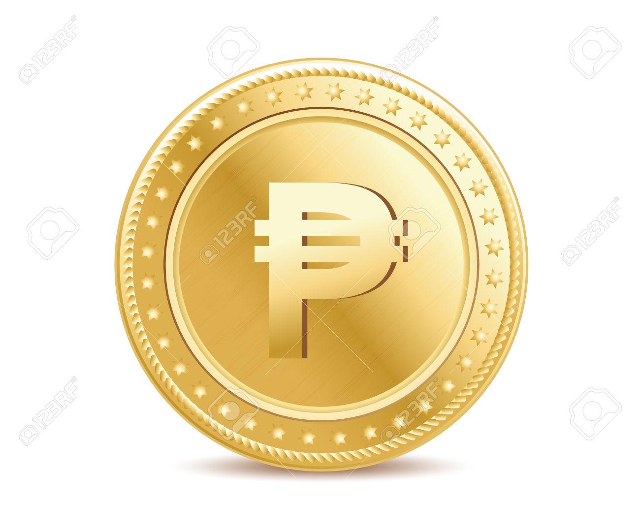 Peso Coin Clipart.