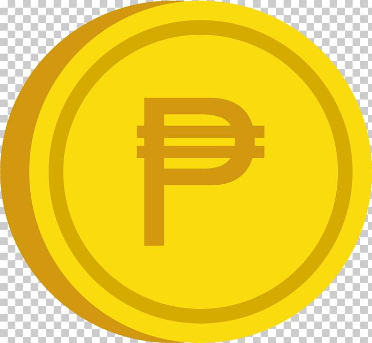 Coin Philippine peso , PESO COIN, gold peso coin logo PNG.