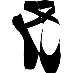 Pointe Shoes Clipart.