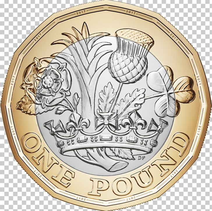 Royal Mint One Pound Coin Pound Sterling PNG, Clipart.