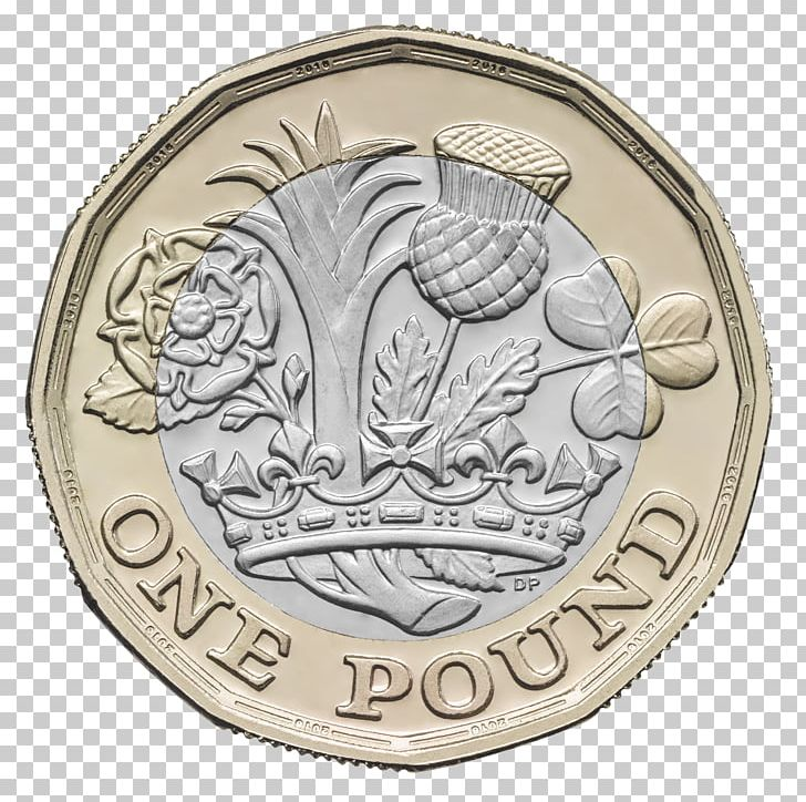 Royal Mint One Pound Dollar Coin Pound Sterling PNG, Clipart.