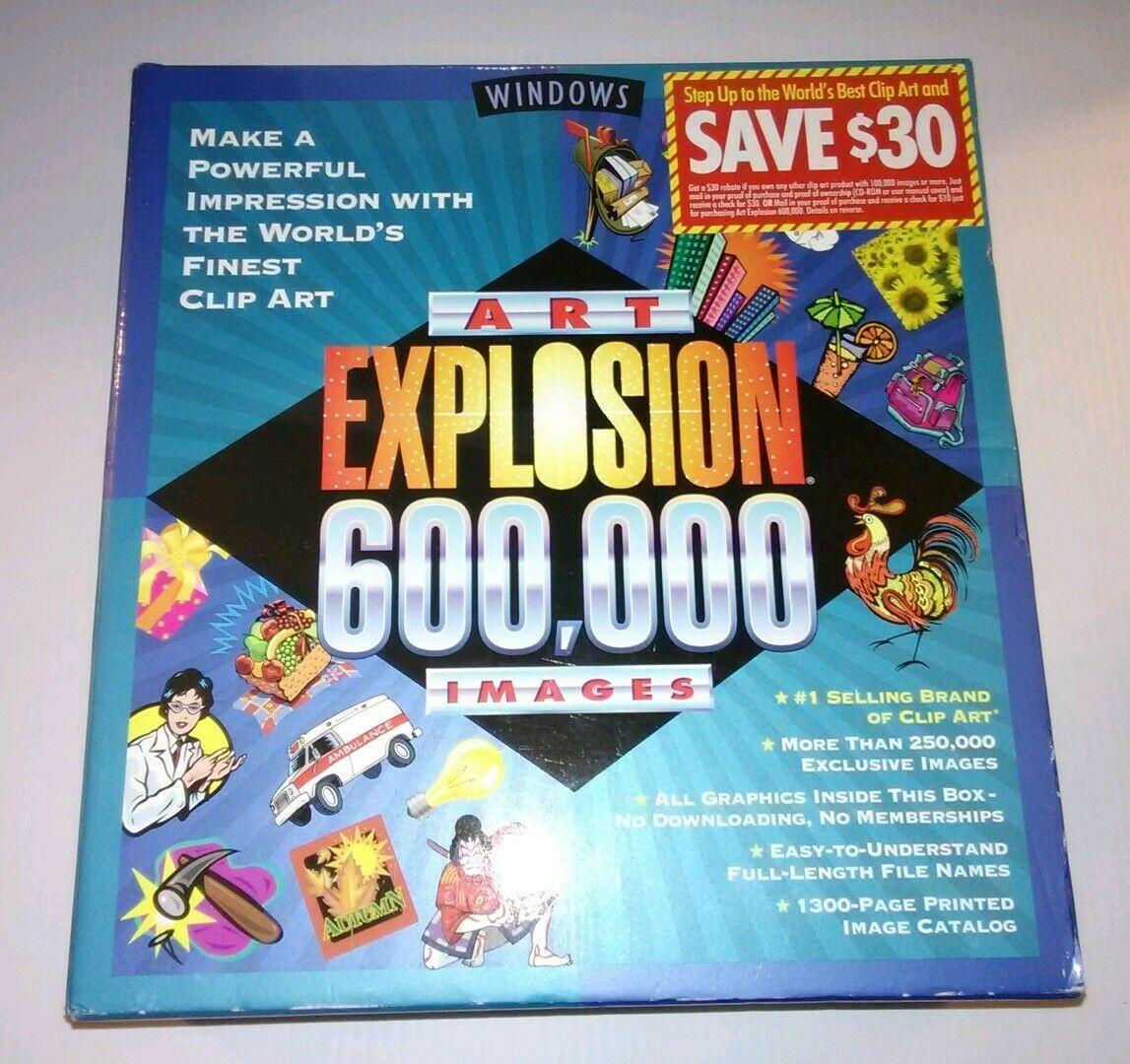 ART EXPLOSION 600,000 Images / Clip Art Software PC WINDOWS = 17 GB / 29  CD.