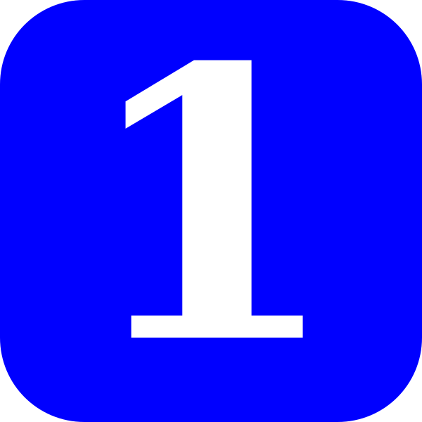 Blue, Rounded, Square With Number 1 Clip Art at Clker.com.
