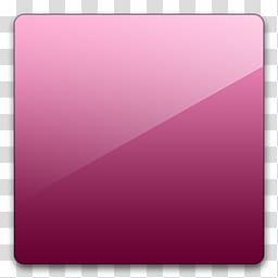 Glossy Standard , square pink border transparent background.