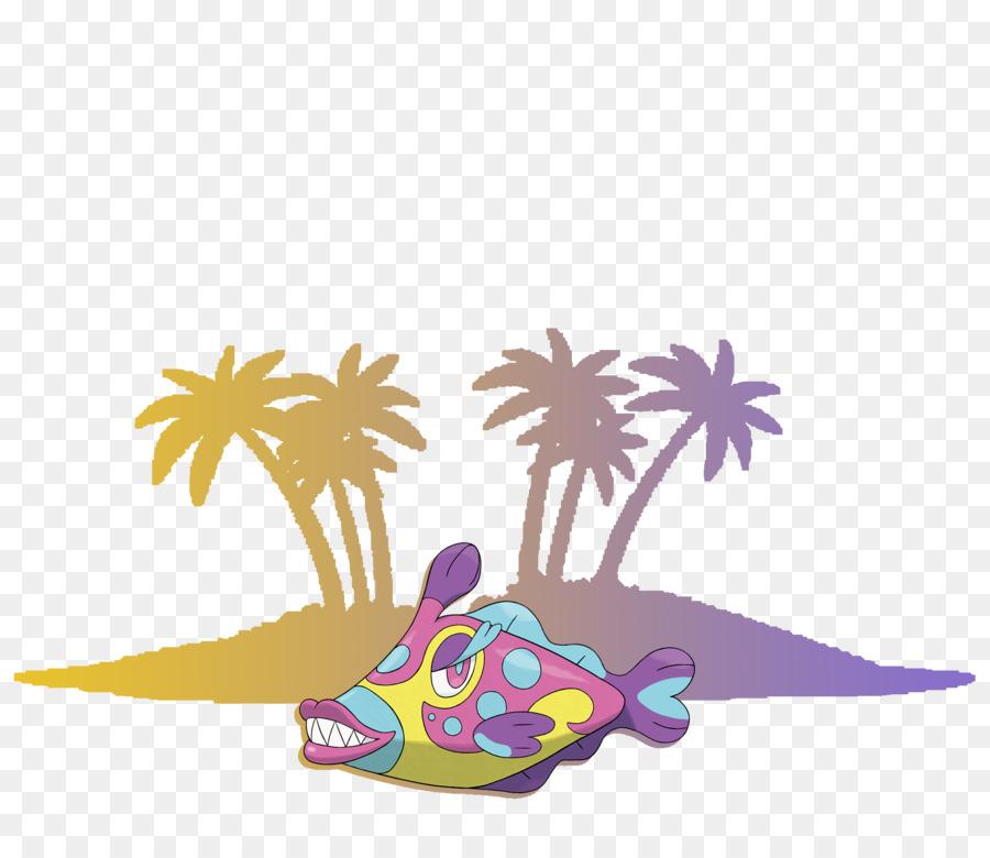 Alola Clip art Pokémon Sun and Moon Exeggutor.