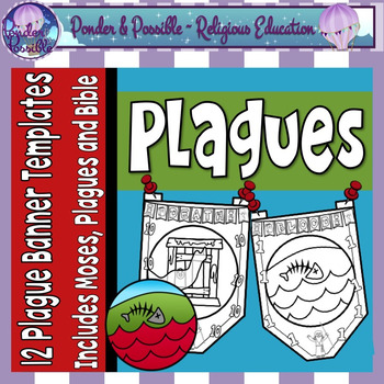 Plague Banners: Moses and The Ten Plagues of Egypt.