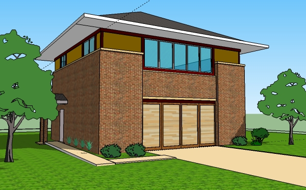 Free Two Story Home Clipart.