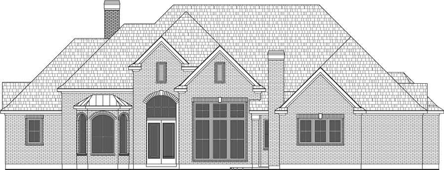 1 1/2 Story House Plan D9086.