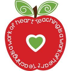1 teacher apple clipart.