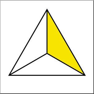 Clip Art: Polygon 03 1/3 Color I abcteach.com.