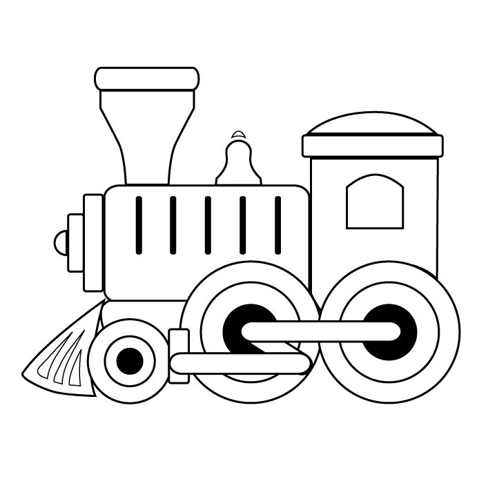 Toy train clipart black and white 1 » Clipart Station.