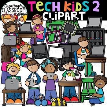 Tech Kids 2 Clipart {Technology Clipart}.
