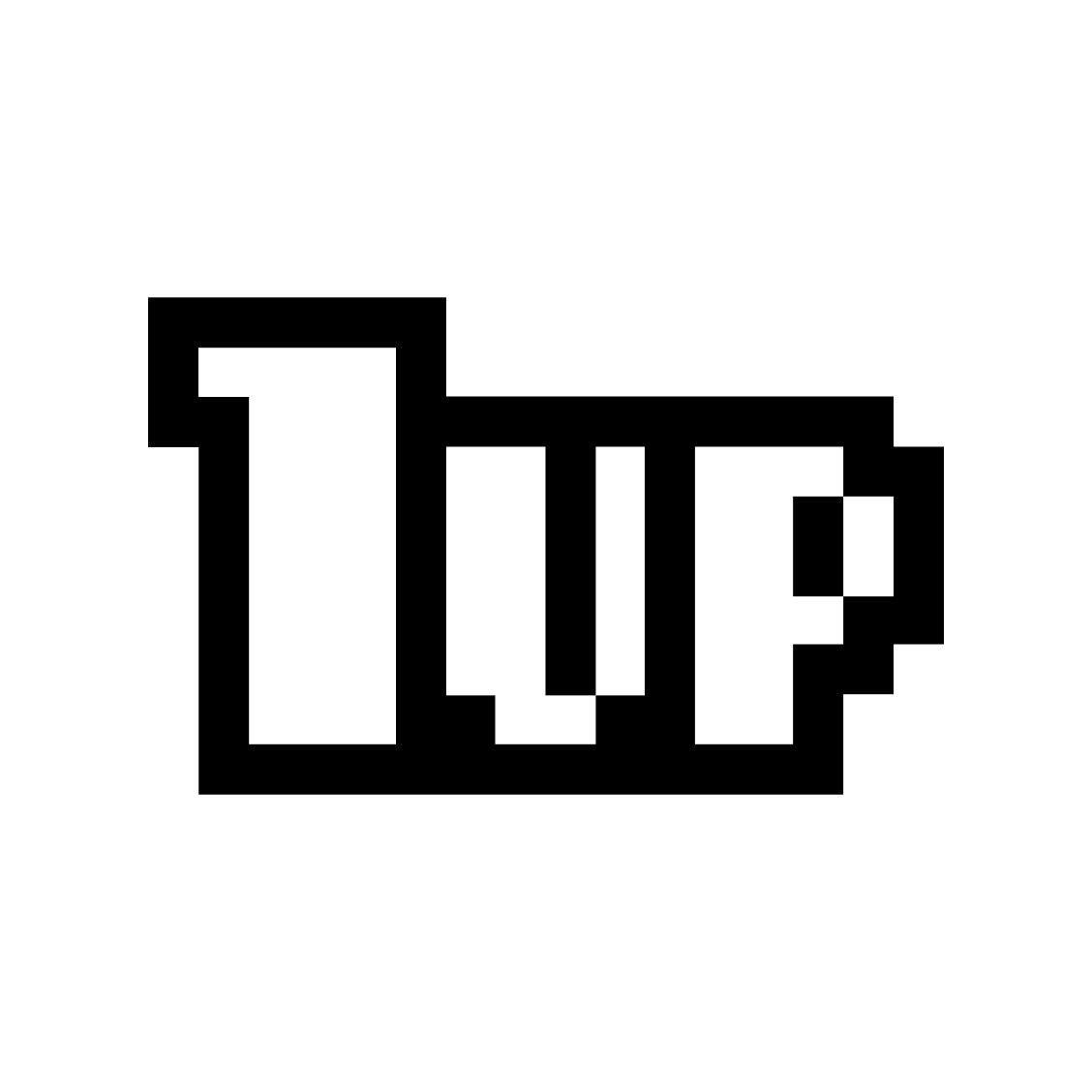 Super Mario Bros One 1 Up graphics design SVG.