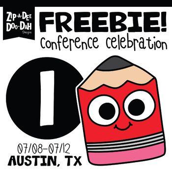 DAY 1 FREEBIE TPT Austin Conference Celebration Week.