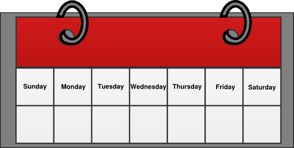 Calendar Week Clipart.