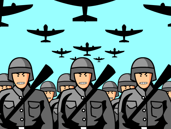 World war 1 countries clipart.