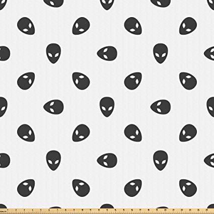 Amazon.com: Lunarable Outer Space Fabric by The Yard, Alien.