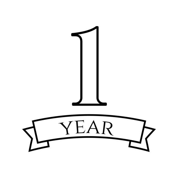 Best One Year Anniversary Illustrations, Royalty.