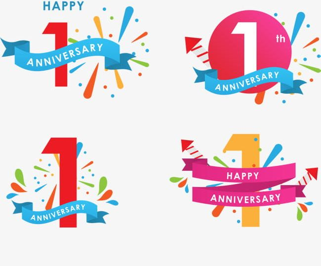Icon 1st Anniversary Celebrates PNG, Clipart, 1 Years Of Age.