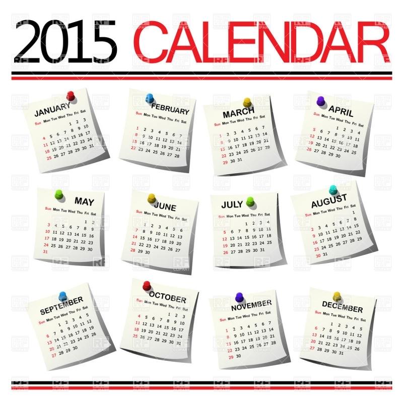 Clip Art Monthly Calendar 2016 :.