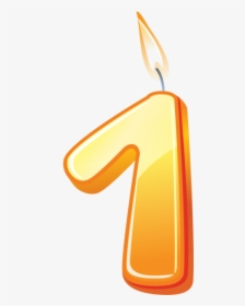 Birthday Candle Number 1 Png Image Free Download Searchpng.
