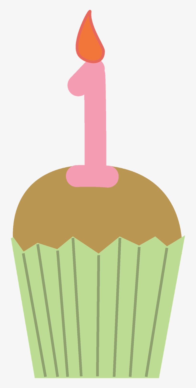 Muffin Clipart Single Cupcake.