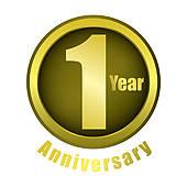 1 Year Anniversary Clip Art.