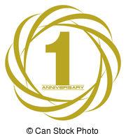 1 year anniversary Clipart Vector Graphics. 583 1 year anniversary.