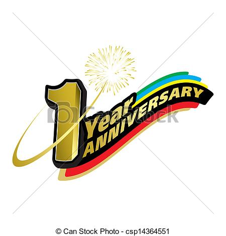 1 year anniversary Clipart Vector Graphics. 472 1 year anniversary.