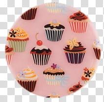 Cupcake Set , cupcakes illustrations transparent background.