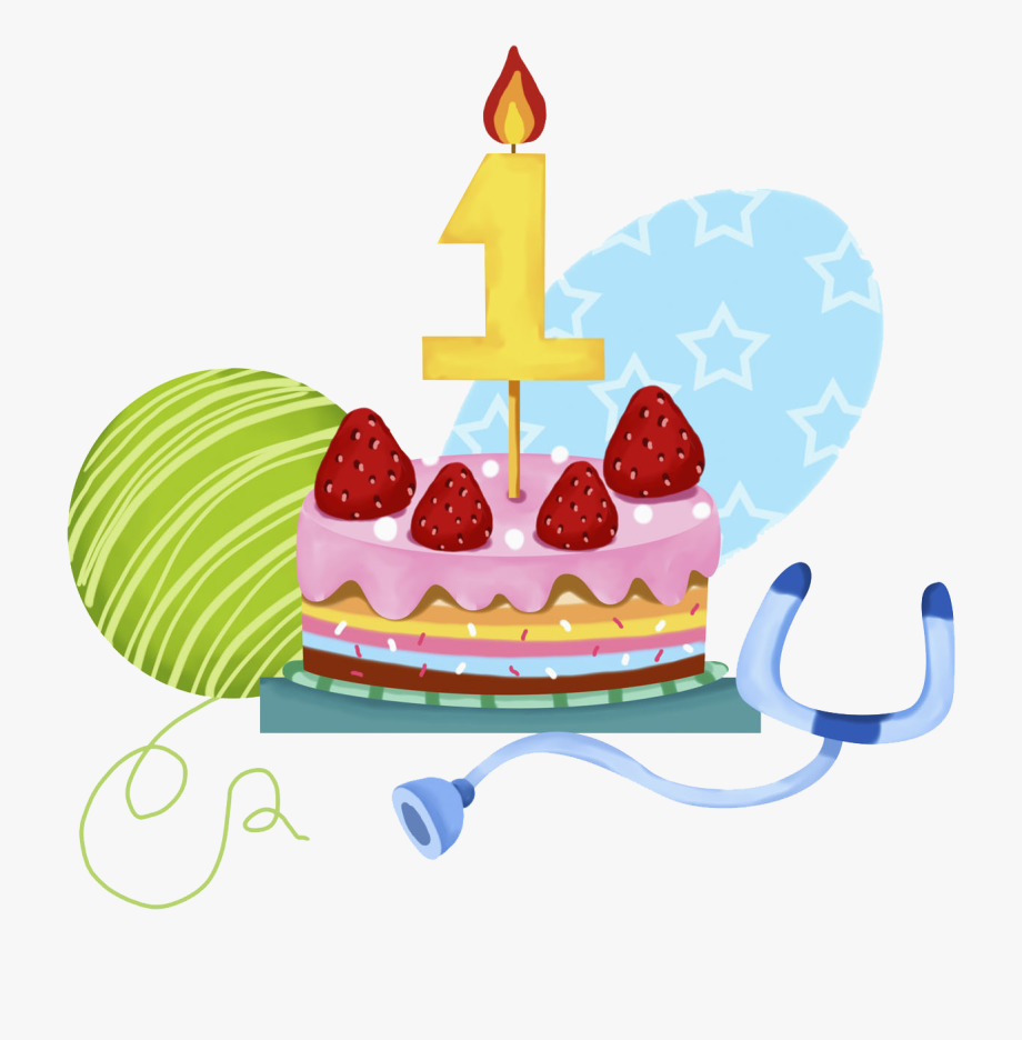 1 Year Old Cake Png , Transparent Cartoon, Free Cliparts.