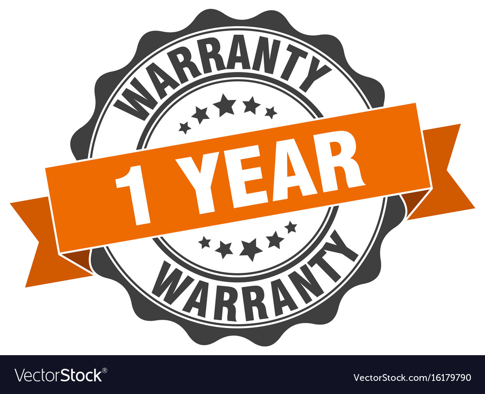 1 year warranty stamp sign seal.
