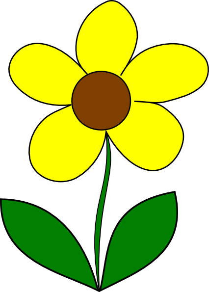 Yellow flower clipart png 1 » PNG Image.