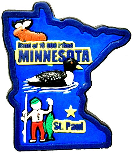 Amazon.com: Minnesota Land of 10000 Lakes Multi Color Fridge.