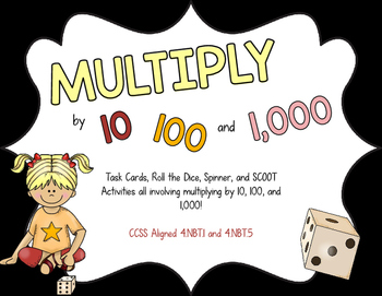 Multiply by 10, 100, and 1000 Activity Pack.
