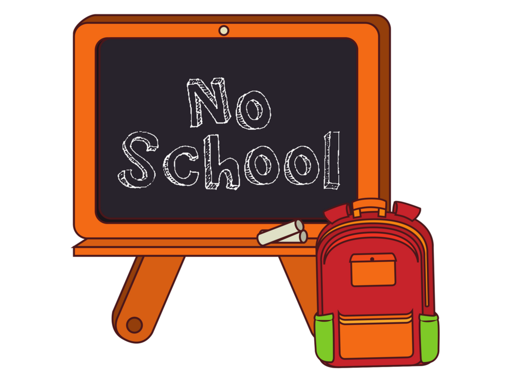 No School Today Clipart.