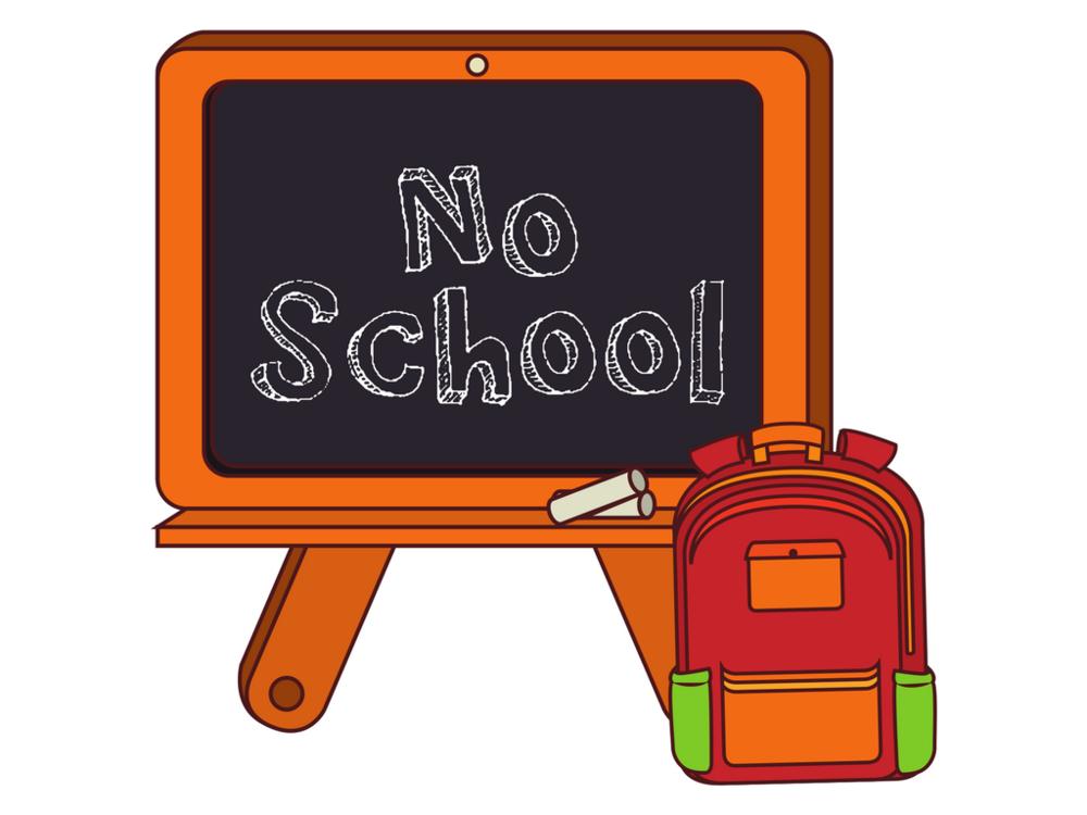 No School Today Clipart.