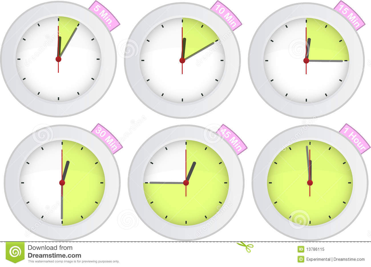 15 Minute Timer Clipart.