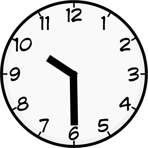 10 30 AM Clock Clip Art, Free Mini Image Arts Clip Art by.