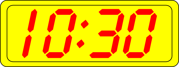Digital Clock 10:30 Clip Art at Clker.com.