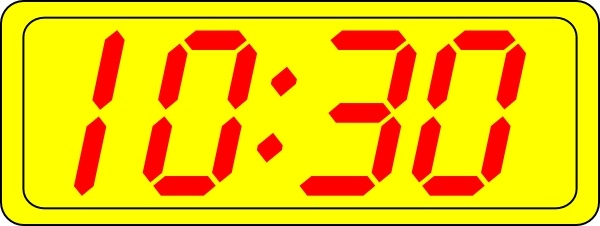 Digital Clock 10:30 clip art Free vector in Open office.
