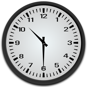 Half Past 10 o\'clock clipart, cliparts of Half Past 10 o.
