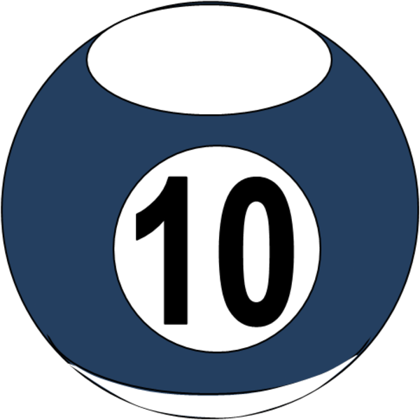 Billiards clipart 10 ball, Billiards 10 ball Transparent.